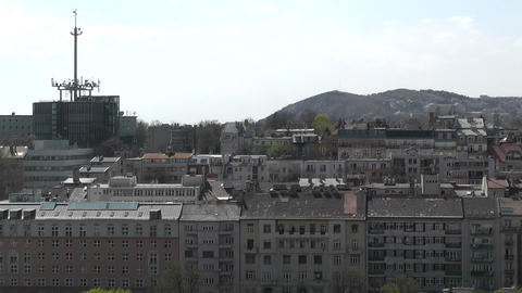 European City Rooftops View 04 Footage