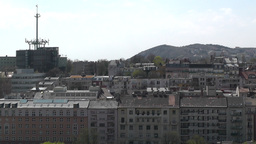 European City Rooftops View 04 Stock Video Footage