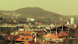 European City Rooftops View 19 stylized Stock Video Footage
