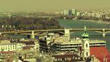 European City View 04 stylized Footage