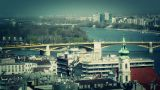 European City View stylized Footage