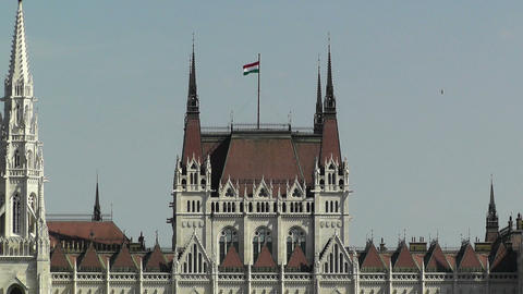Hungarian Parliament Budapest Hungary 11 Stock Video Footage