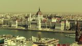 Hungarian Parliament Budapest Hungary 19 Stylized stock footage