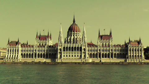 Hungarian Parliament Budapest Hungary 21 stylized Footage