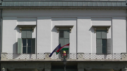 Hungarian Presidential Palace Budapest Hungary 02 Stock Video Footage