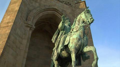 10670 emperor wilhelm monument germany Stock Video Footage