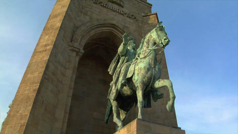 10670 emperor wilhelm monument germany Stock Video Footage