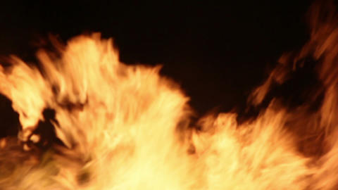 Fire Detail Clip 07 Part 2 Stock Video Footage