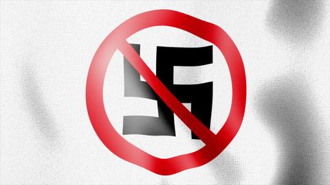 10676 waving anti nazi flag Stock Video Footage