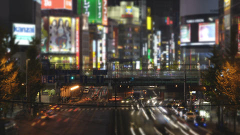 Time lapse and miniature like landscape from... Stock Video Footage