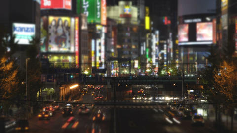 Time lapse and miniature like landscape from Shinjuku,Tokyo,Japan Footage