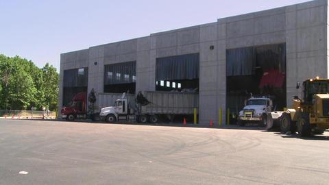 Dump trucks dumping waste (11 of 11) Footage