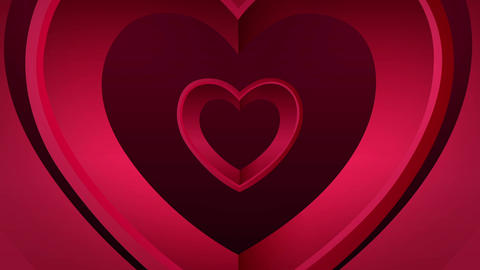 Looping heart tunnel of love Animation