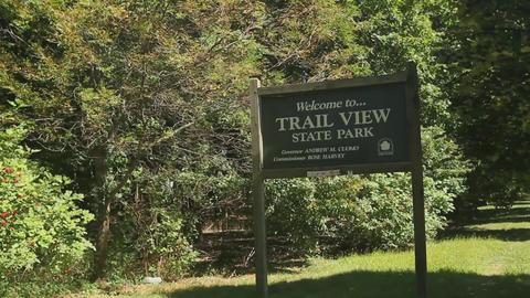 State Park Sign (1 Of 1) stock footage