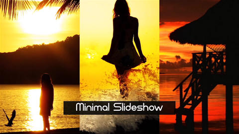 Stylish Minimal Slideshow After Effects Template