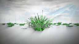 Environmental buzzwords with logo Footage