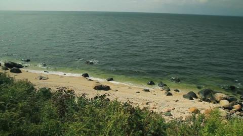 View of rocky/sandy coastline (2 of 2) Footage