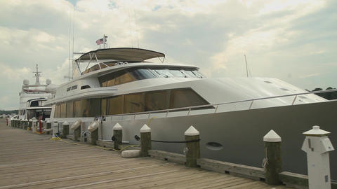 Luxury yacht in dock (2 of 3) Footage