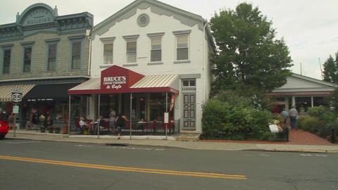 Shops along main street Footage