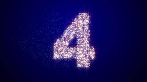 Particle Countdown Rotate Blue stock footage