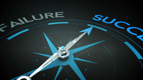 Compass pointing to success Animation