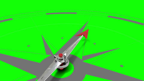 Compass pointing on green screen Animation