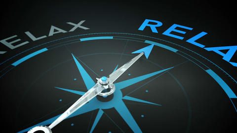 Compass pointing to relax Animation