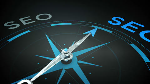 Compass pointing to seo Animation