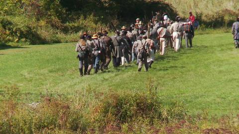 Civil War reenactment (1 of 3) Footage