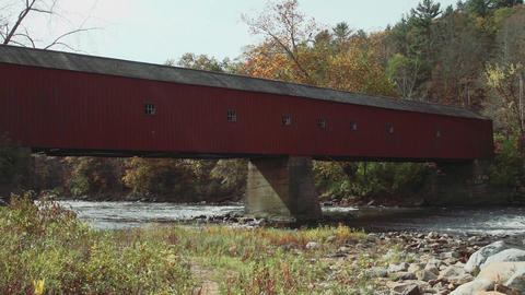 Covered bridge side view (5 of 7) Footage