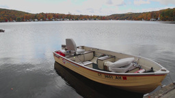 Boat At Rest In Water stock footage