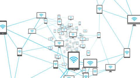 Wifi symbols on media device screens Animation