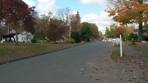 Mailbox and street in residential neighborhood (2 of 2) Footage