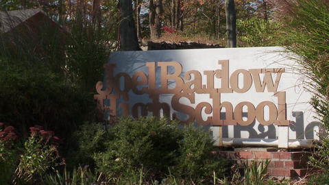 High School Sign for Joel Barlow (1 of 2) Footage