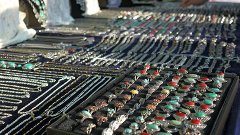 Jewerly On Stand stock footage