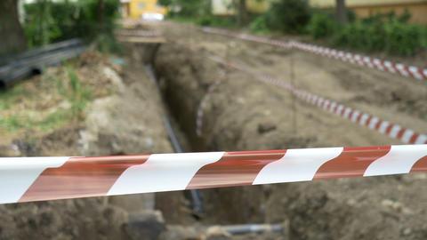 Pipeline Excavation Site stock footage