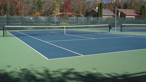 Private empty tennis courts (1 of 5) Live Action