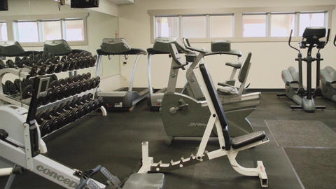 Inside A Gym Facility (1 Of 4) stock footage
