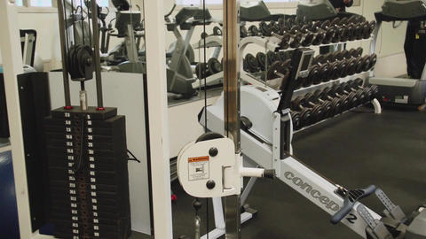 Inside A Gym Facility (2 Of 4) stock footage