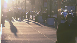 NYC Commuters At Sunrise (1 Of 1) stock footage