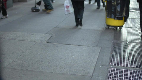 Feet of city passersby (1 of 1) Footage
