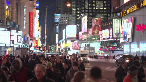 Marvelous nighttime New York City intersection (1 of 5) Footage