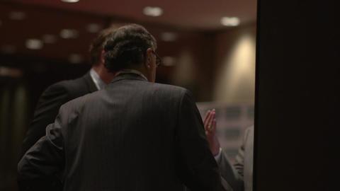 Back view of businessmen talking Footage