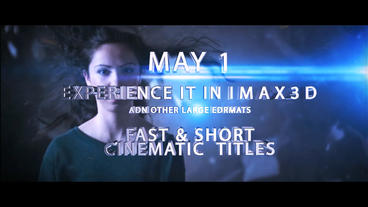 Fast and Short Cinematic Titles After Effects Template