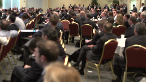 Attending a business conference (5 of 8) Footage