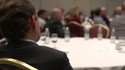 Attending a business conference (4 of 8) Footage
