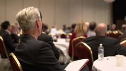 Attending a business conference (7 of 8) Footage