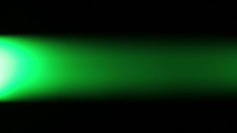 Horizontally moving green LED light at night Footage