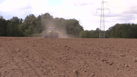 Planting crops. Agricultural industry works Footage