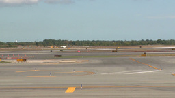 Plane lands on runway (2 of 3) Footage